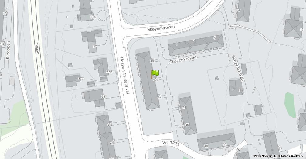 Kart sentrert på geolokasjonen 59.897230647777 breddegrad, 10.8385467736381 lengdegrad