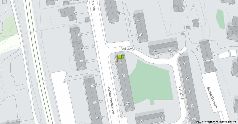 Kart sentrert på geolokasjonen 59.8965645202242 breddegrad, 10.8386529712866 lengdegrad