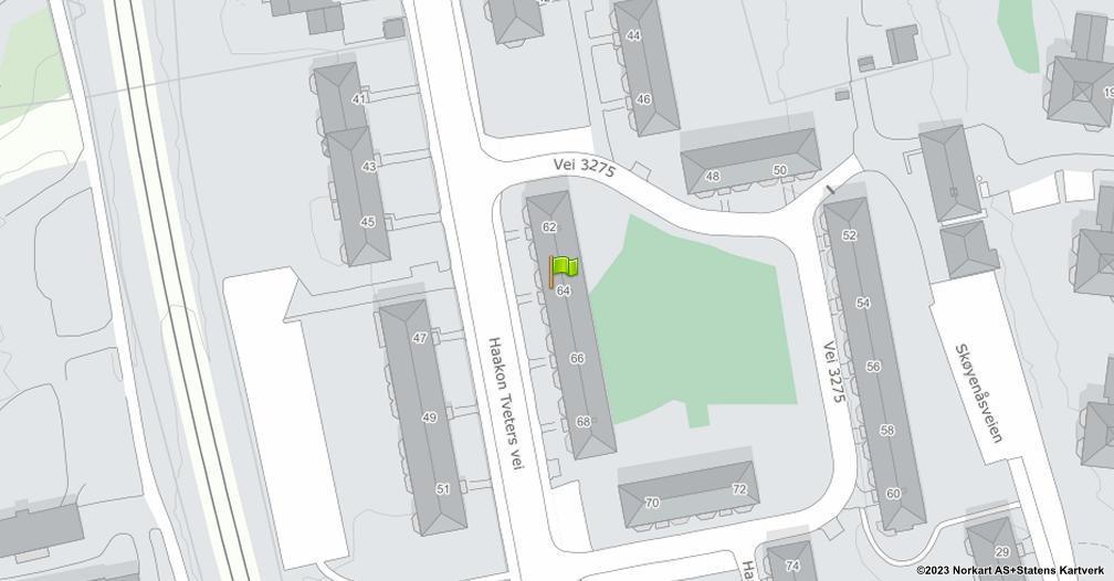 Kart sentrert på geolokasjonen 59.8964199267612 breddegrad, 10.8387164868707 lengdegrad