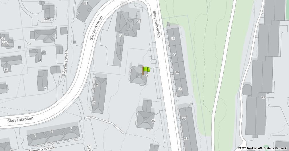 Kart sentrert på geolokasjonen 59.8980428533184 breddegrad, 10.8408442885838 lengdegrad