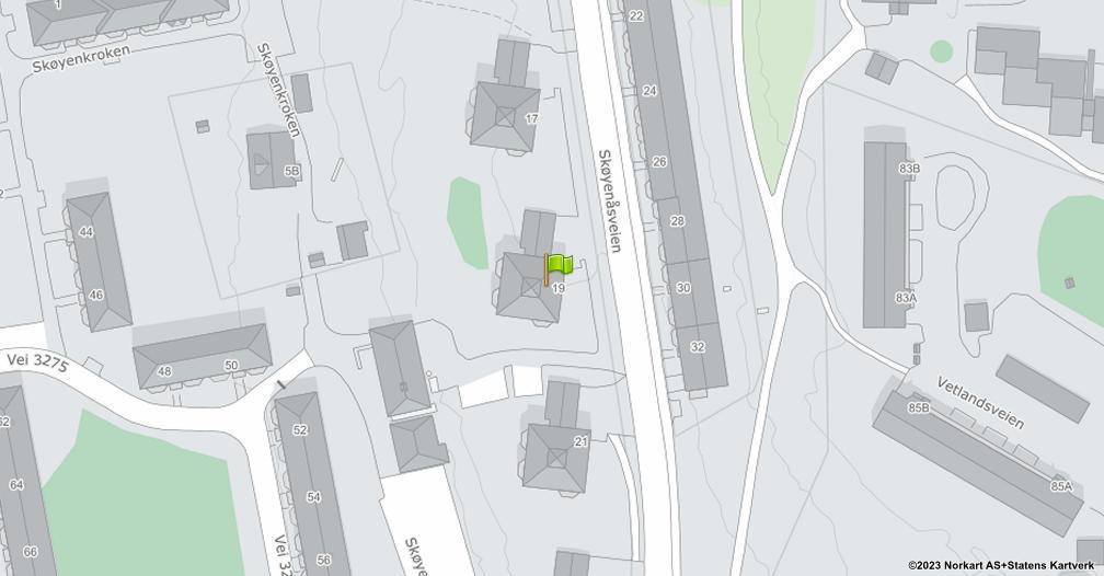 Kart sentrert på geolokasjonen 59.8968703936745 breddegrad, 10.84119057832 lengdegrad