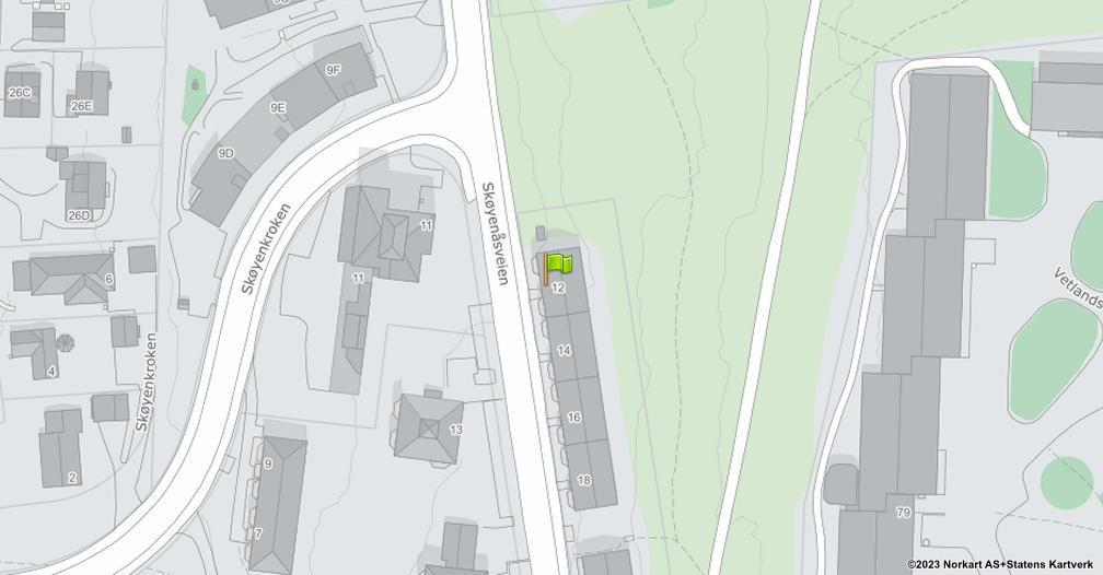 Kart sentrert på geolokasjonen 59.8983686801611 breddegrad, 10.8413092747548 lengdegrad
