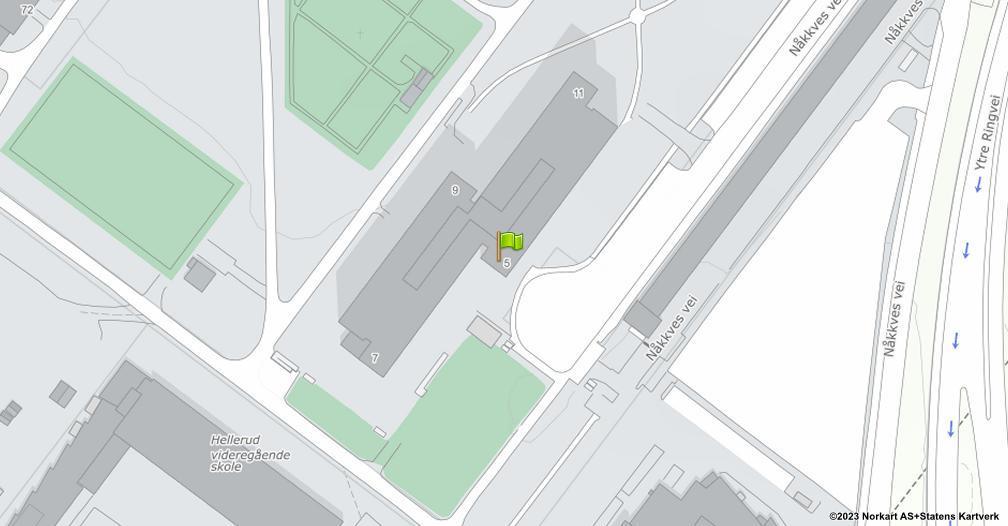 Kart sentrert på geolokasjonen 59.915361891009 breddegrad, 10.841320456807 lengdegrad