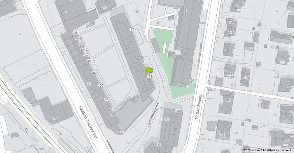 Kart sentrert på geolokasjonen 59.8936036715992 breddegrad, 10.8413887353096 lengdegrad