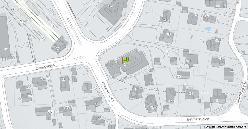 Kart sentrert på geolokasjonen 59.8924151527526 breddegrad, 10.841855623016 lengdegrad