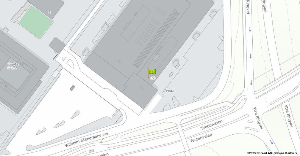 Kart sentrert på geolokasjonen 59.9138359214711 breddegrad, 10.841897722169 lengdegrad