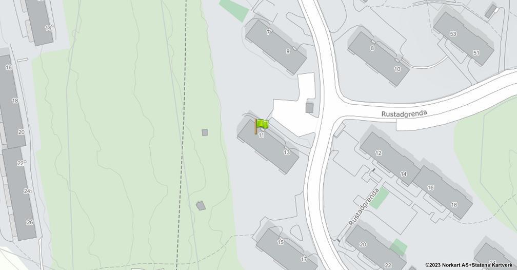 Kart sentrert på geolokasjonen 59.8727074911927 breddegrad, 10.8426231776735 lengdegrad