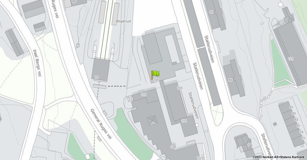 Kart sentrert på geolokasjonen 59.875560974741 breddegrad, 10.8428168454674 lengdegrad