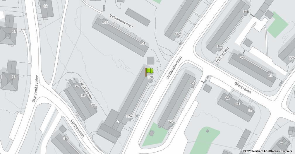 Kart sentrert på geolokasjonen 59.8961271715383 breddegrad, 10.8435985761281 lengdegrad