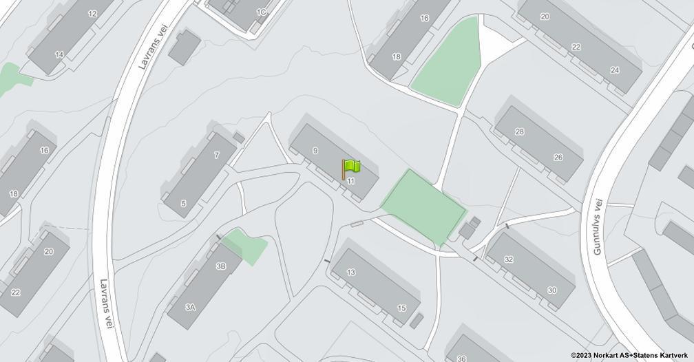 Kart sentrert på geolokasjonen 59.919260595119 breddegrad, 10.8438441980058 lengdegrad