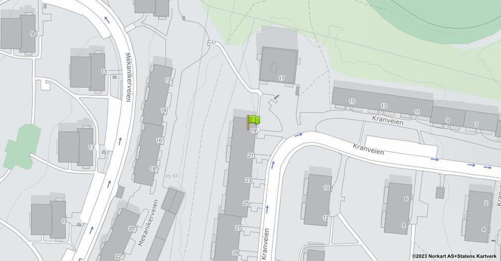 Kart sentrert på geolokasjonen 59.9036400360527 breddegrad, 10.8439435597696 lengdegrad
