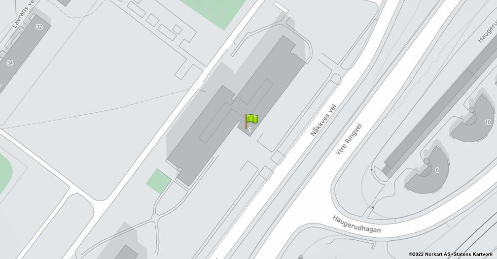 Kart sentrert på geolokasjonen 59.9174997723595 breddegrad, 10.8445157090416 lengdegrad
