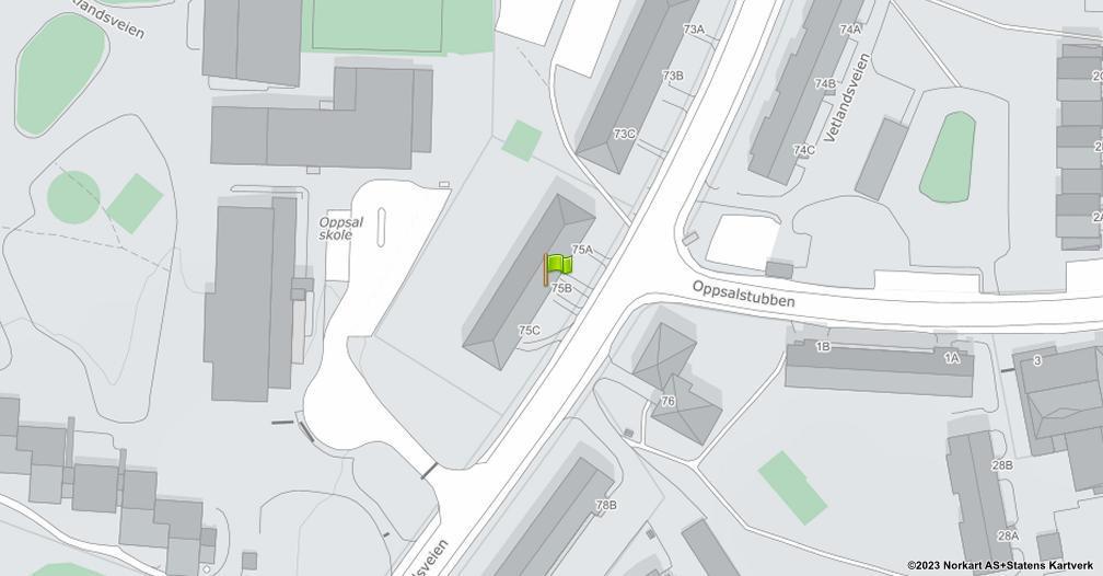 Kart sentrert på geolokasjonen 59.8977123678294 breddegrad, 10.8458496507249 lengdegrad