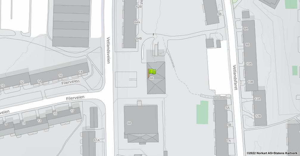 Kart sentrert på geolokasjonen 59.9018311529077 breddegrad, 10.8480450595186 lengdegrad