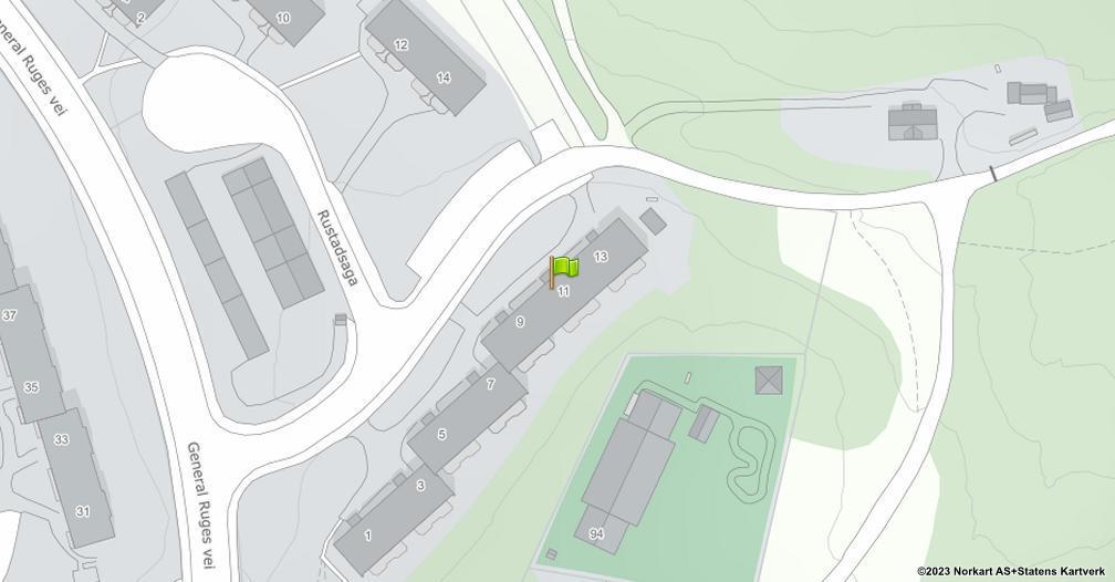 Kart sentrert på geolokasjonen 59.8724334276112 breddegrad, 10.8493606794698 lengdegrad