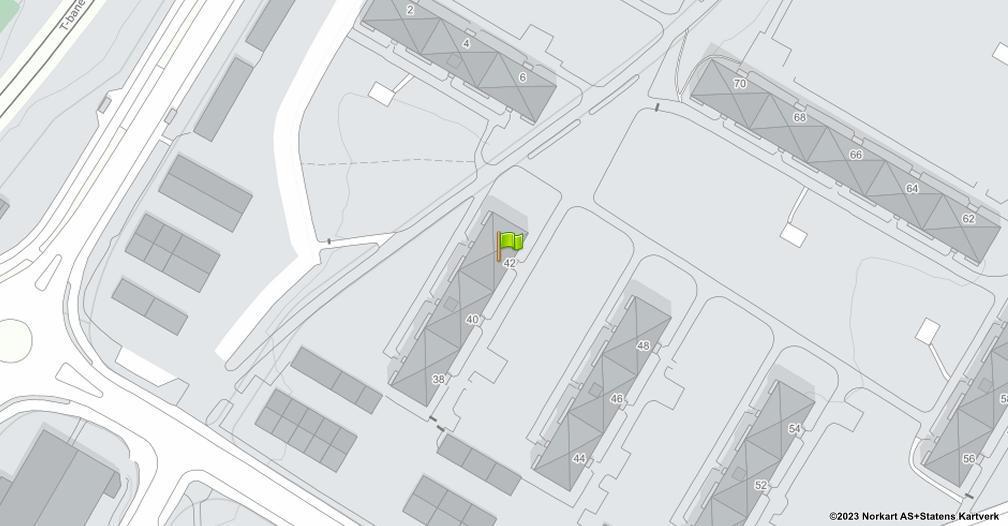 Kart sentrert på geolokasjonen 59.9182310383764 breddegrad, 10.8532144915013 lengdegrad