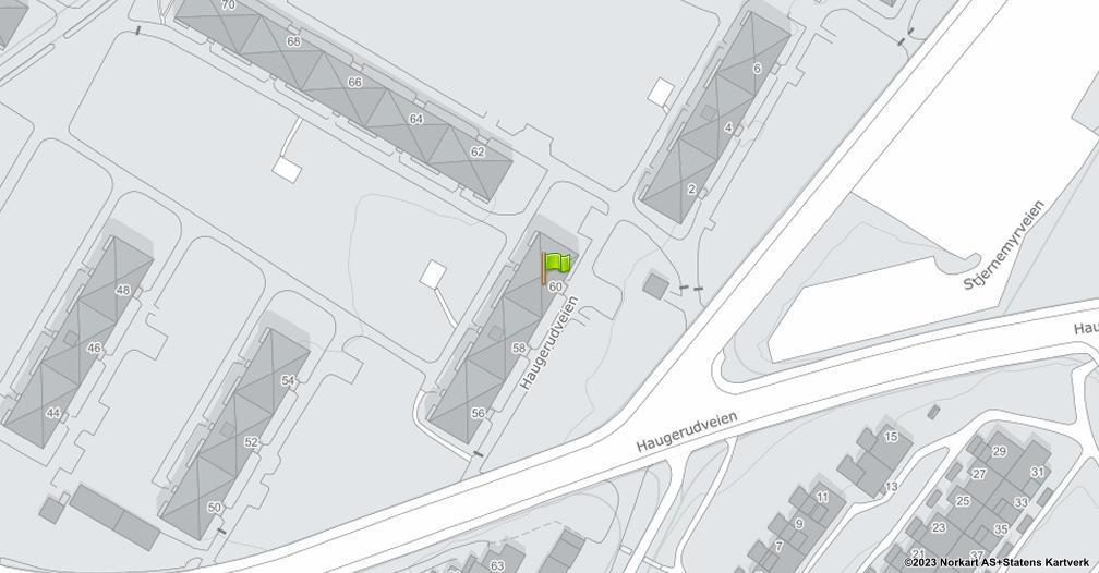 Kart sentrert på geolokasjonen 59.9180320278971 breddegrad, 10.8558688187313 lengdegrad