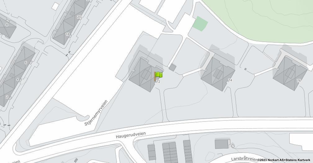 Kart sentrert på geolokasjonen 59.9183814074952 breddegrad, 10.8589294523872 lengdegrad