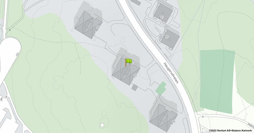 Kart sentrert på geolokasjonen 59.9196578238049 breddegrad, 10.8615948539829 lengdegrad