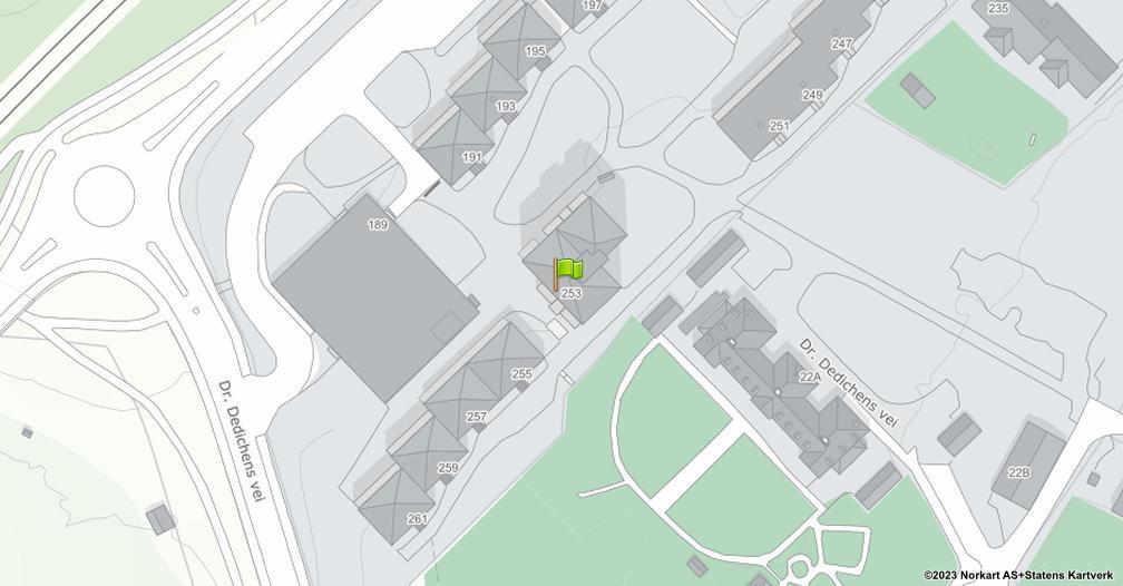Kart sentrert på geolokasjonen 59.9249525961821 breddegrad, 10.8616553365636 lengdegrad