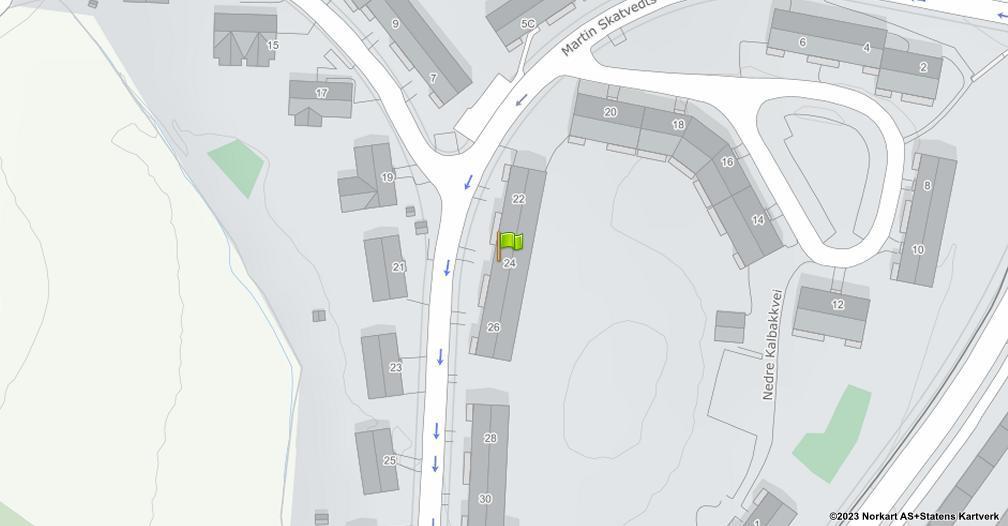 Kart sentrert på geolokasjonen 59.949974296289 breddegrad, 10.8632770657594 lengdegrad
