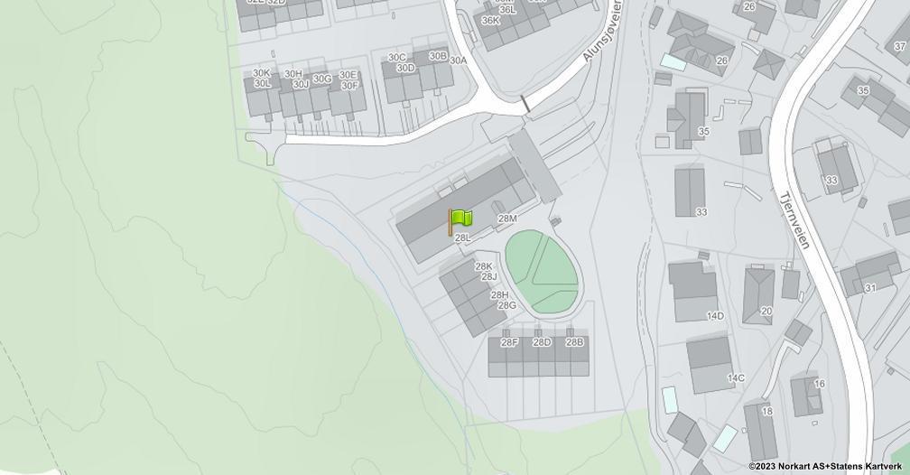 Kart sentrert på geolokasjonen 59.961001289624 breddegrad, 10.8634557100251 lengdegrad