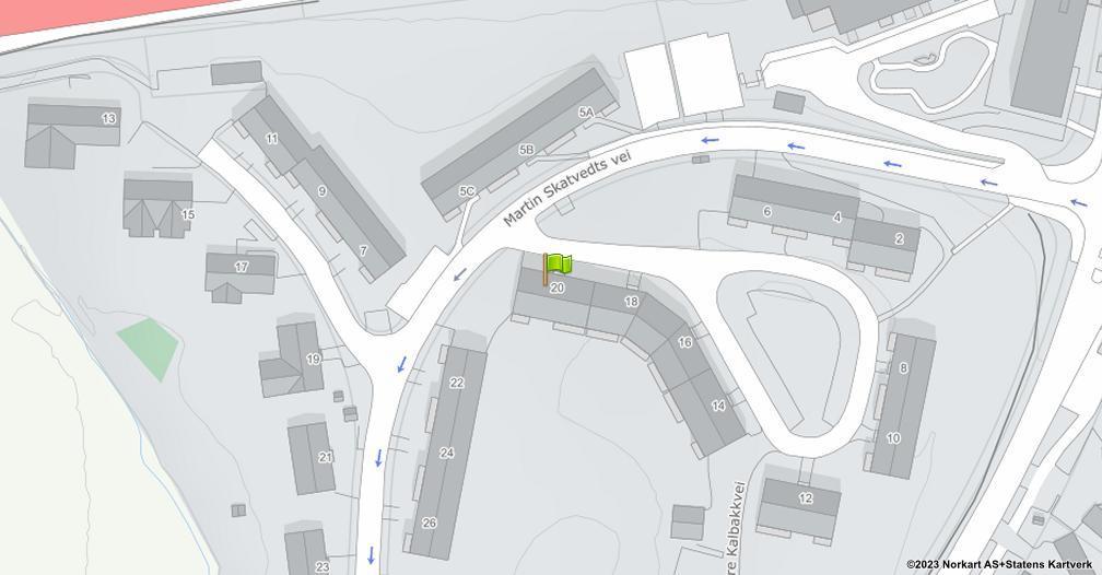 Kart sentrert på geolokasjonen 59.9503533789281 breddegrad, 10.8637818151486 lengdegrad