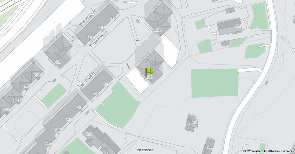 Kart sentrert på geolokasjonen 59.926082034843 breddegrad, 10.8646119447318 lengdegrad