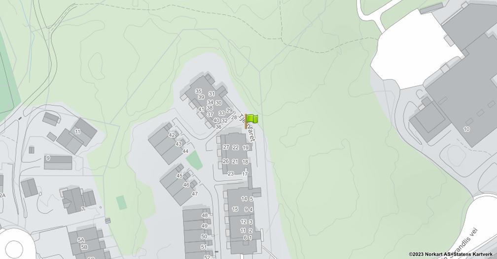 Kart sentrert på geolokasjonen 59.9574962 breddegrad, 10.8650966 lengdegrad
