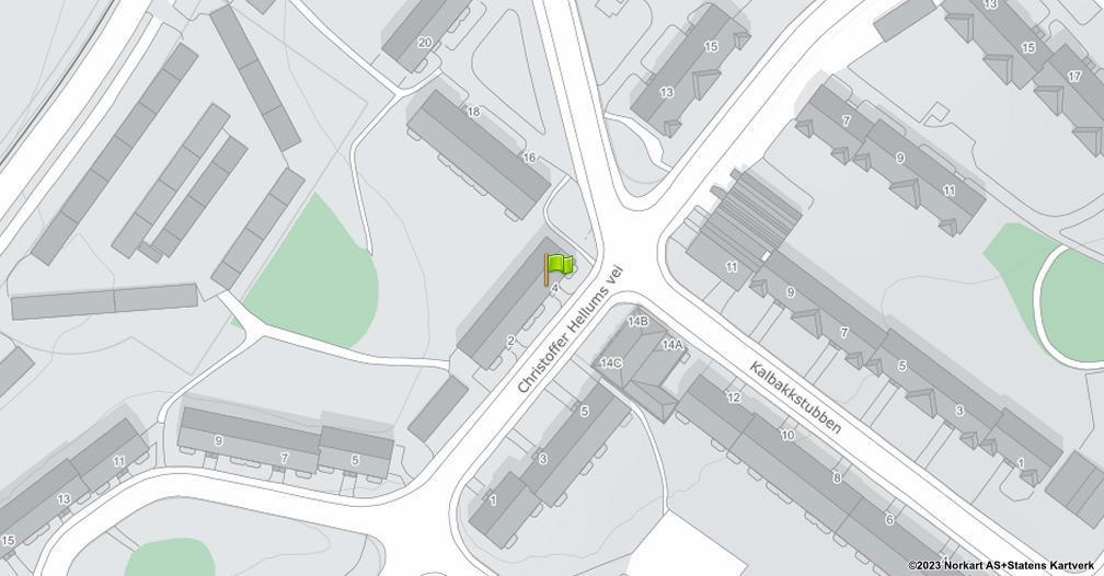 Kart sentrert på geolokasjonen 59.9491427322281 breddegrad, 10.8676494812808 lengdegrad