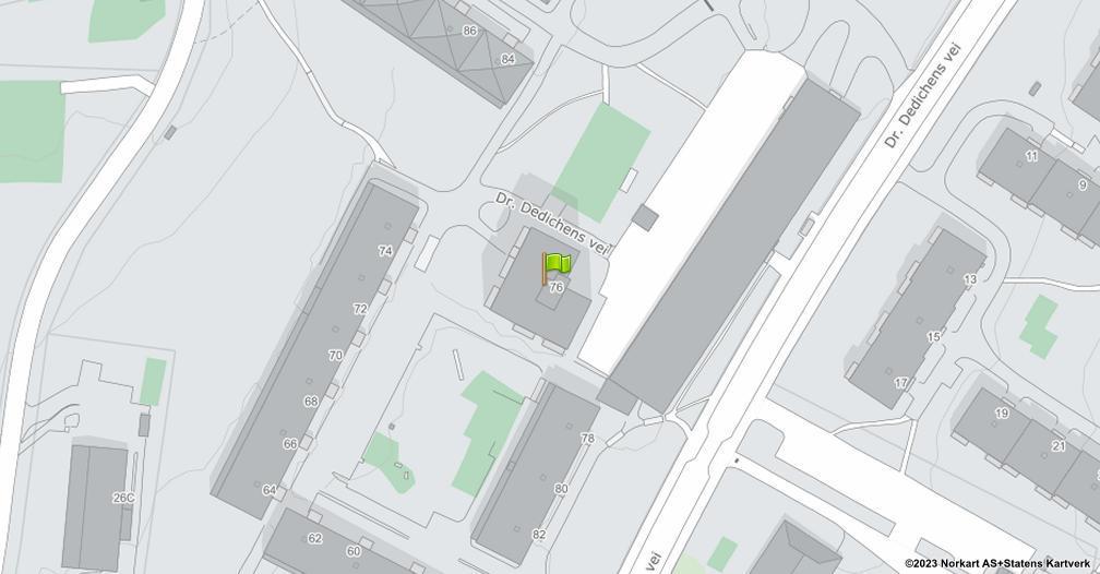 Kart sentrert på geolokasjonen 59.9256782432344 breddegrad, 10.8683915309628 lengdegrad