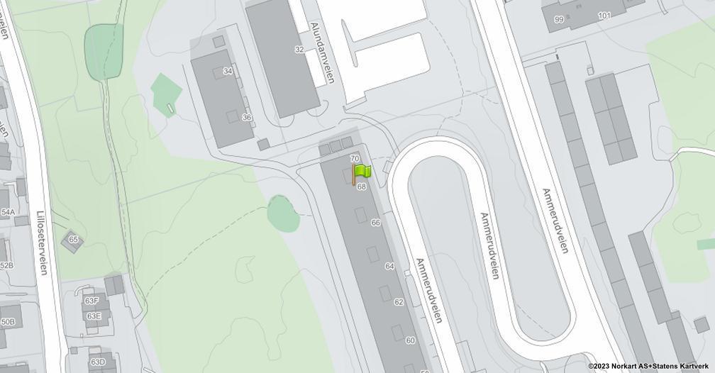 Kart sentrert på geolokasjonen 59.9658322392733 breddegrad, 10.8692555487456 lengdegrad