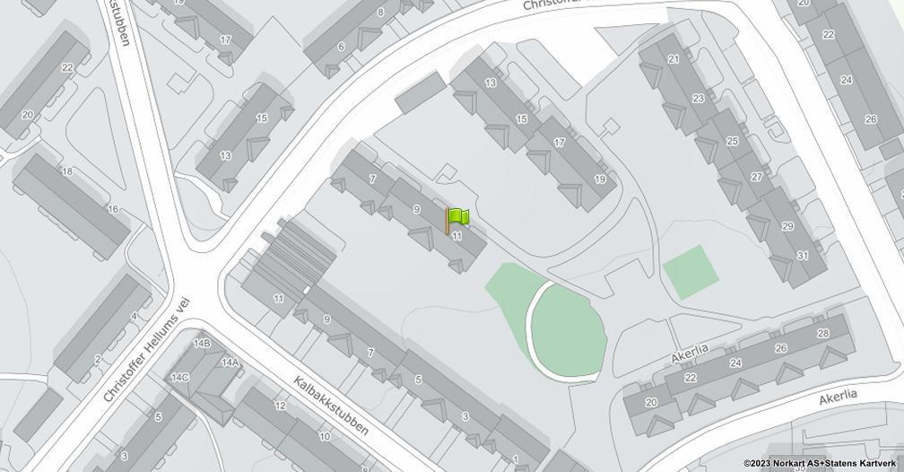 Kart sentrert på geolokasjonen 59.9493661872627 breddegrad, 10.8694383017707 lengdegrad