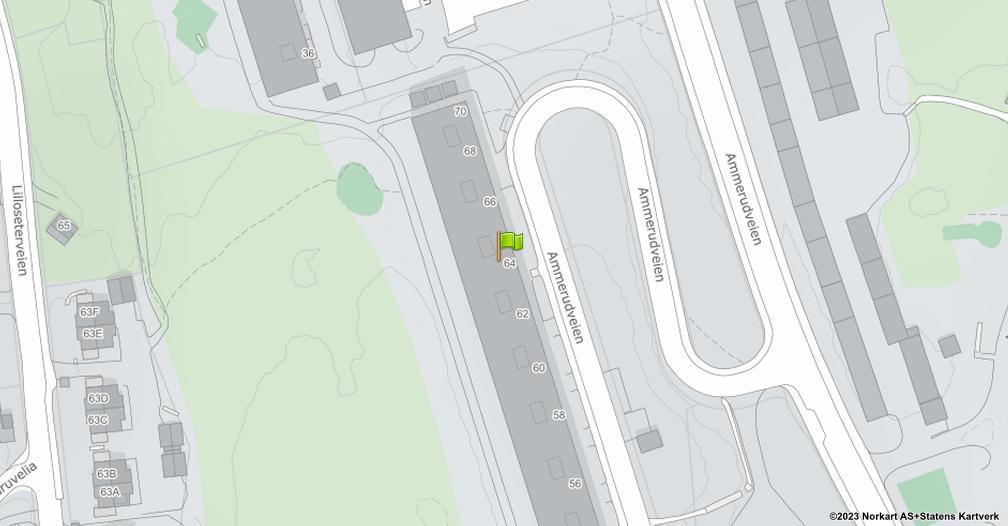 Kart sentrert på geolokasjonen 59.9655509859221 breddegrad, 10.8694546724258 lengdegrad