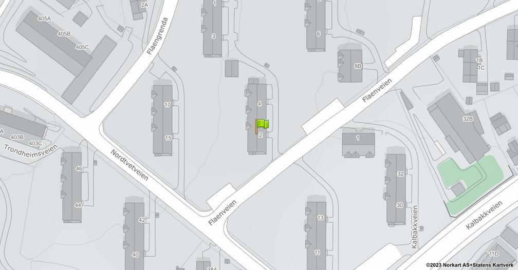 Kart sentrert på geolokasjonen 59.9536597647397 breddegrad, 10.8706830149543 lengdegrad