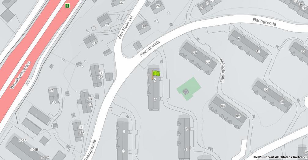 Kart sentrert på geolokasjonen 59.9547277346935 breddegrad, 10.8707432187914 lengdegrad