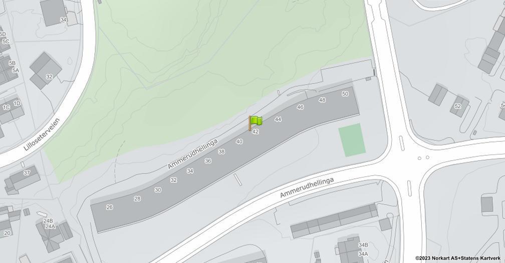 Kart sentrert på geolokasjonen 59.962218156904 breddegrad, 10.8711458940559 lengdegrad