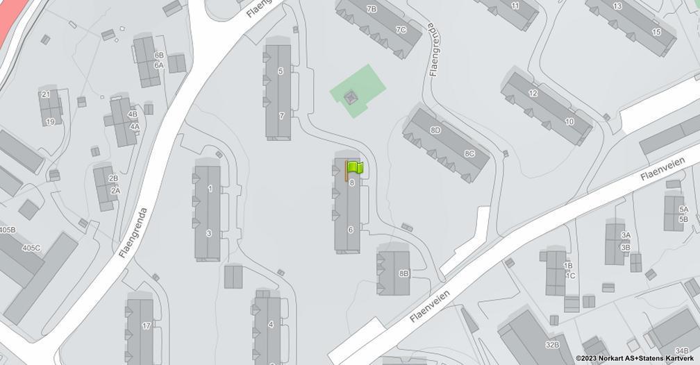 Kart sentrert på geolokasjonen 59.9543252418734 breddegrad, 10.8712577809576 lengdegrad