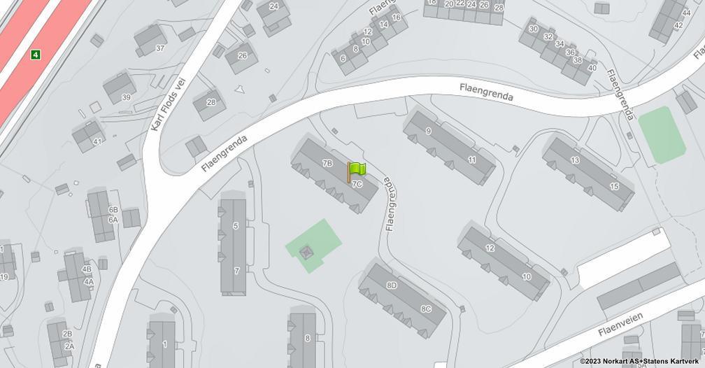 Kart sentrert på geolokasjonen 59.9548773477704 breddegrad, 10.8715933622012 lengdegrad
