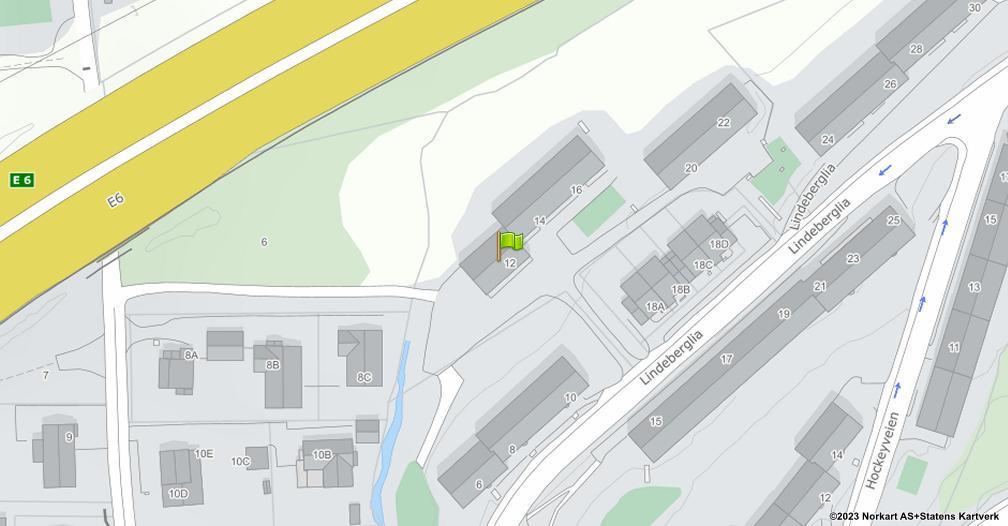 Kart sentrert på geolokasjonen 59.9320230888664 breddegrad, 10.8725603563254 lengdegrad
