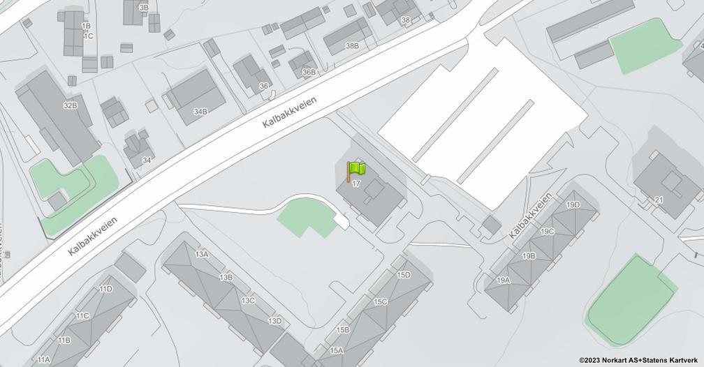 Kart sentrert på geolokasjonen 59.9534585132457 breddegrad, 10.8747367739105 lengdegrad