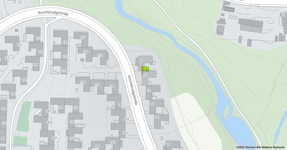 Kart sentrert på geolokasjonen 59.968814023957 breddegrad, 10.8768588433533 lengdegrad
