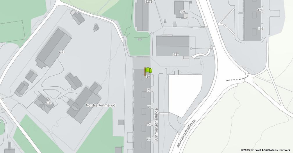 Kart sentrert på geolokasjonen 59.9643414809411 breddegrad, 10.8774656423005 lengdegrad