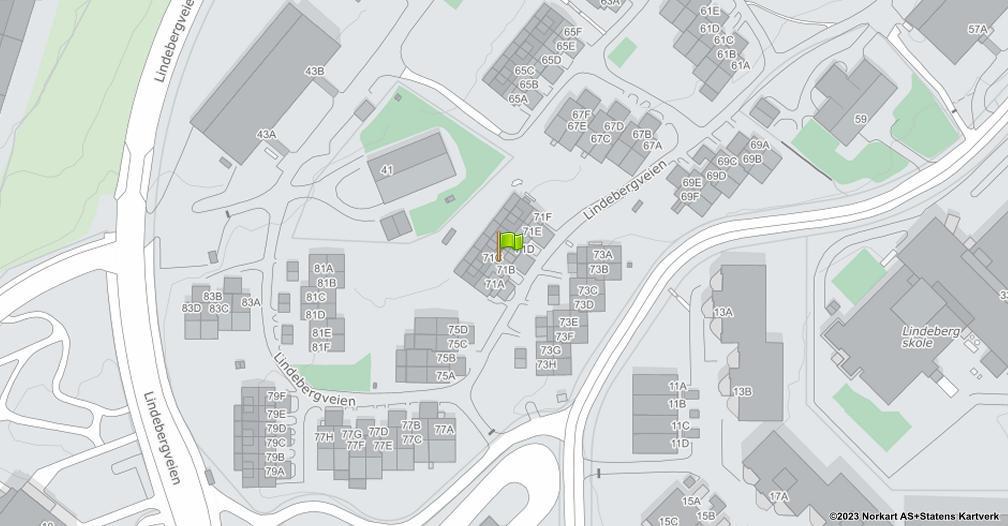 Kart sentrert på geolokasjonen 59.9314590579654 breddegrad, 10.8774857758217 lengdegrad