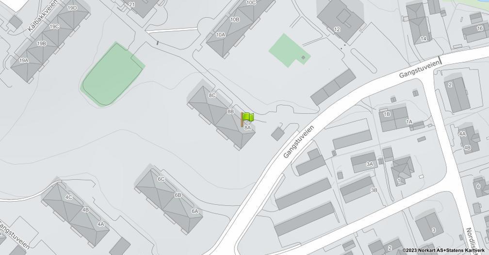 Kart sentrert på geolokasjonen 59.9527639923547 breddegrad, 10.8780999819305 lengdegrad