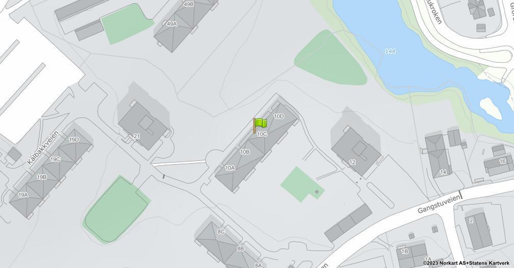 Kart sentrert på geolokasjonen 59.9534104111631 breddegrad, 10.8781186567632 lengdegrad