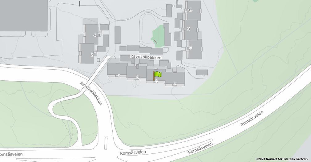 Kart sentrert på geolokasjonen 59.9612210396722 breddegrad, 10.8921919957015 lengdegrad