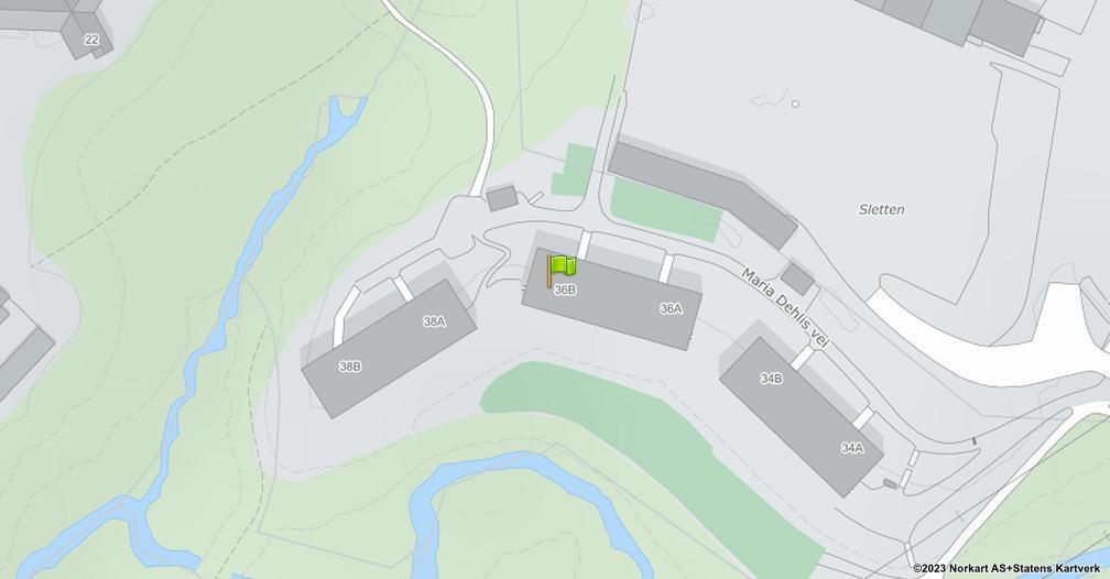 Kart sentrert på geolokasjonen 59.9522834288575 breddegrad, 10.8959980776777 lengdegrad