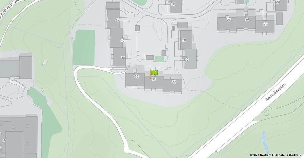 Kart sentrert på geolokasjonen 59.9629229815835 breddegrad, 10.8962657963592 lengdegrad