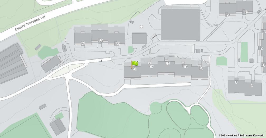 Kart sentrert på geolokasjonen 59.9702109562955 breddegrad, 10.8966287541161 lengdegrad